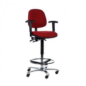 ergonomische hoge rode stoel voetring nijmegen gaertner